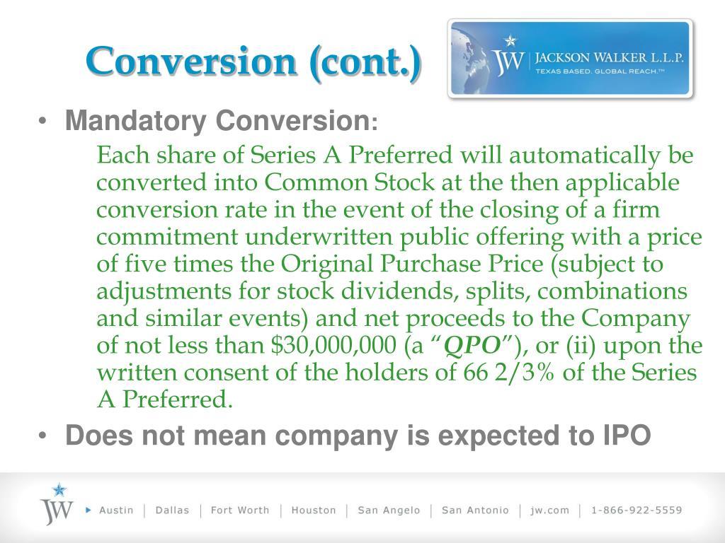Conversion (cont.)