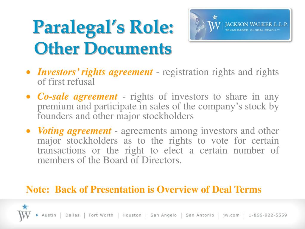 Paralegal's Role: