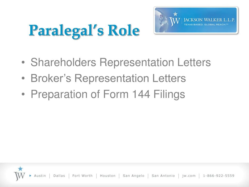 Paralegal's Role