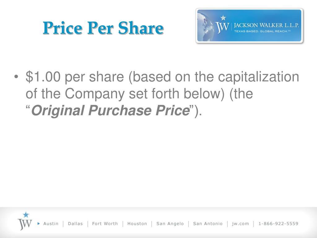 Price Per Share