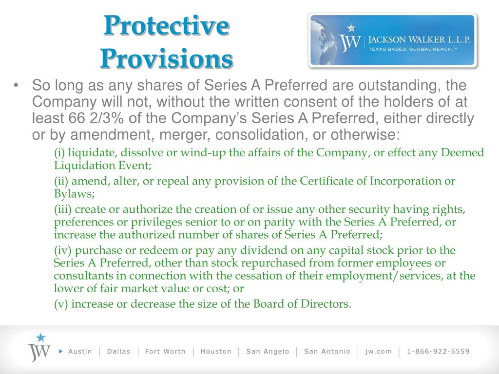 Protective Provisions