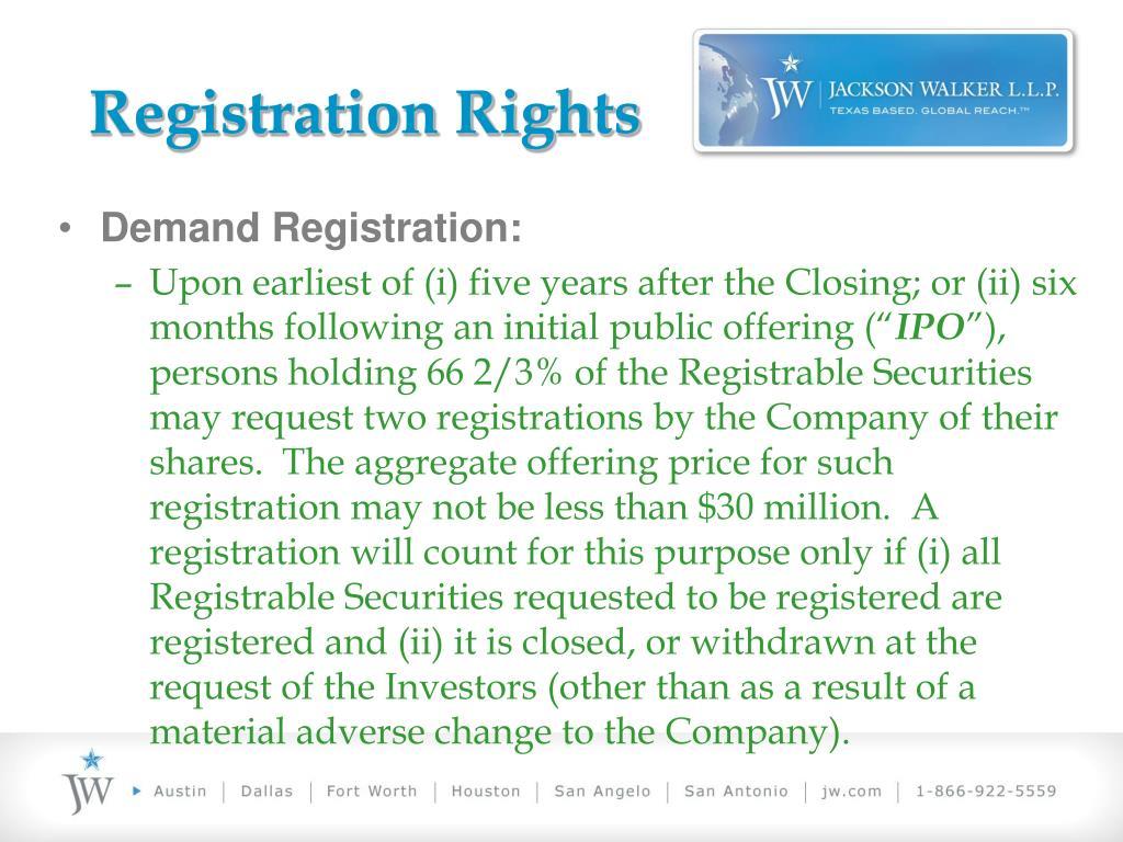 Registration Rights