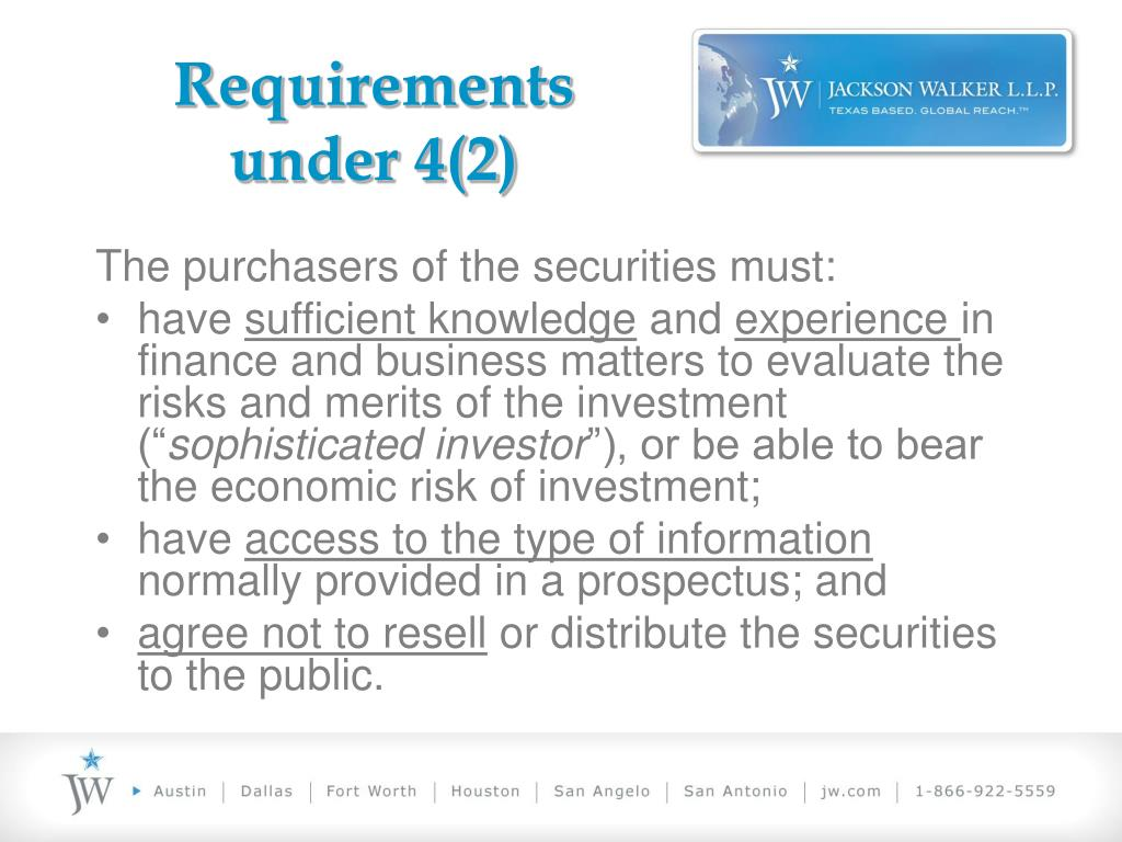 Requirements under 4(2)