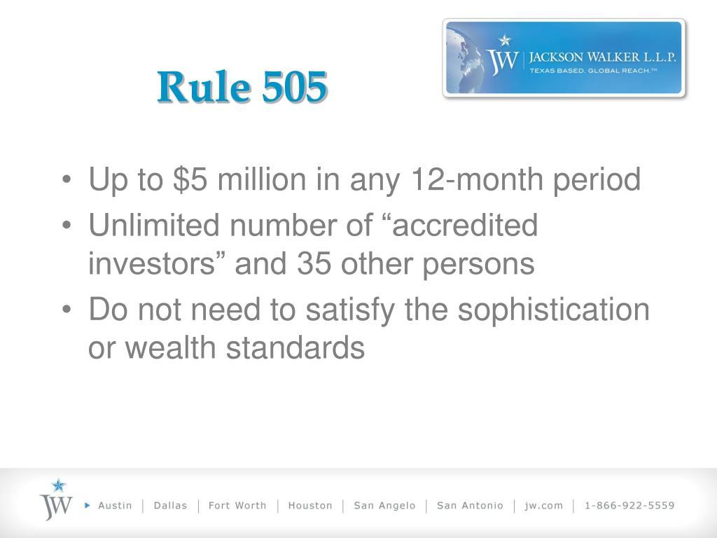 Rule 505