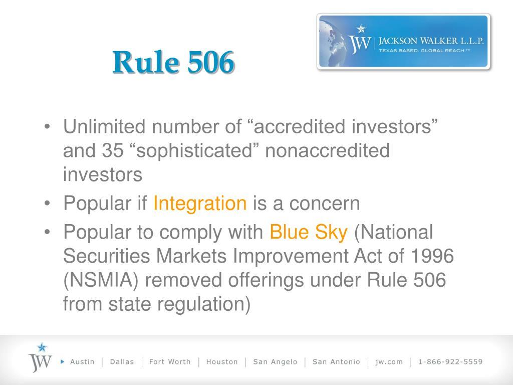Rule 506