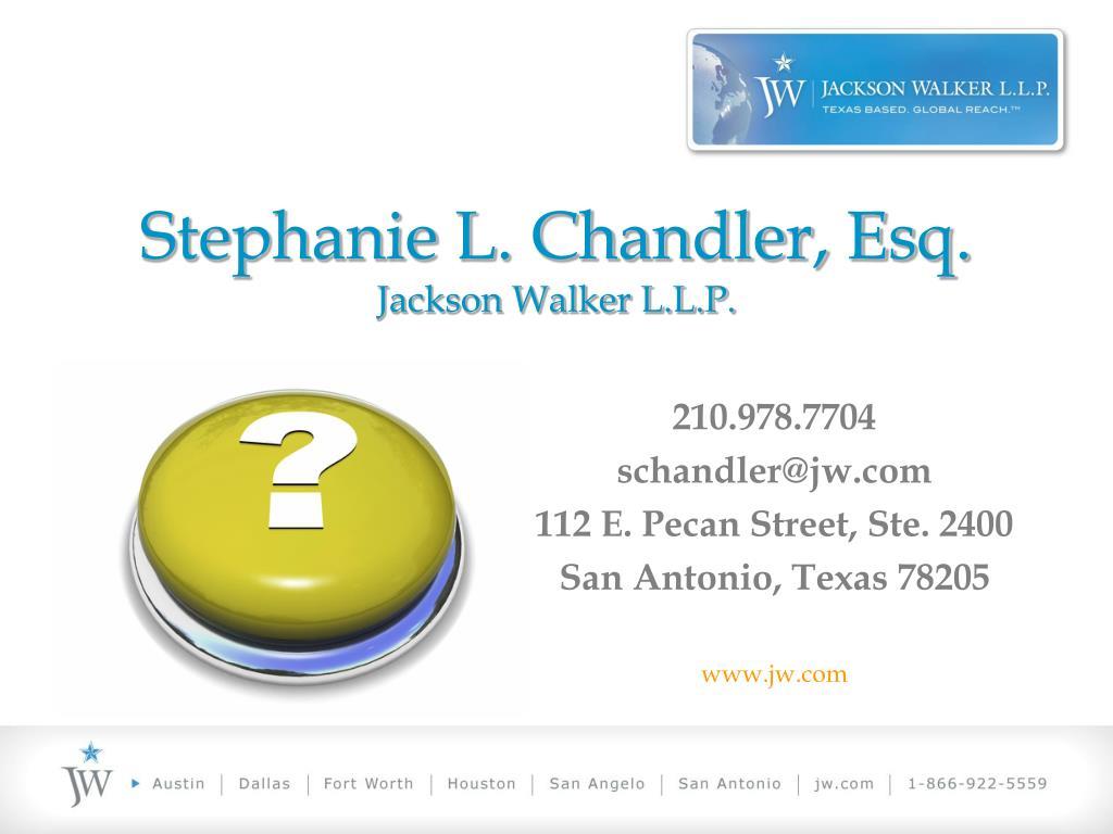 Stephanie L. Chandler, Esq.