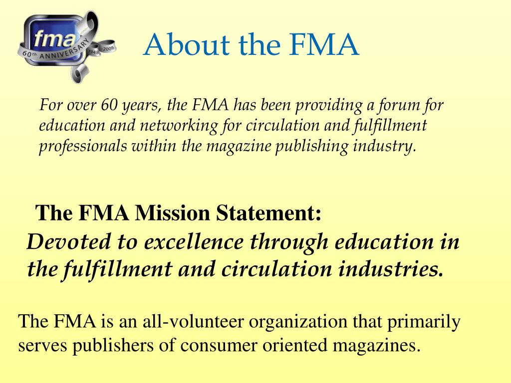 About the FMA