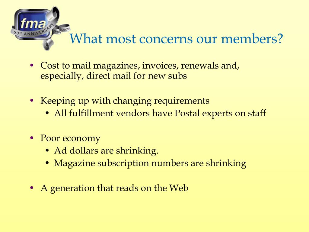 What most concerns our members?