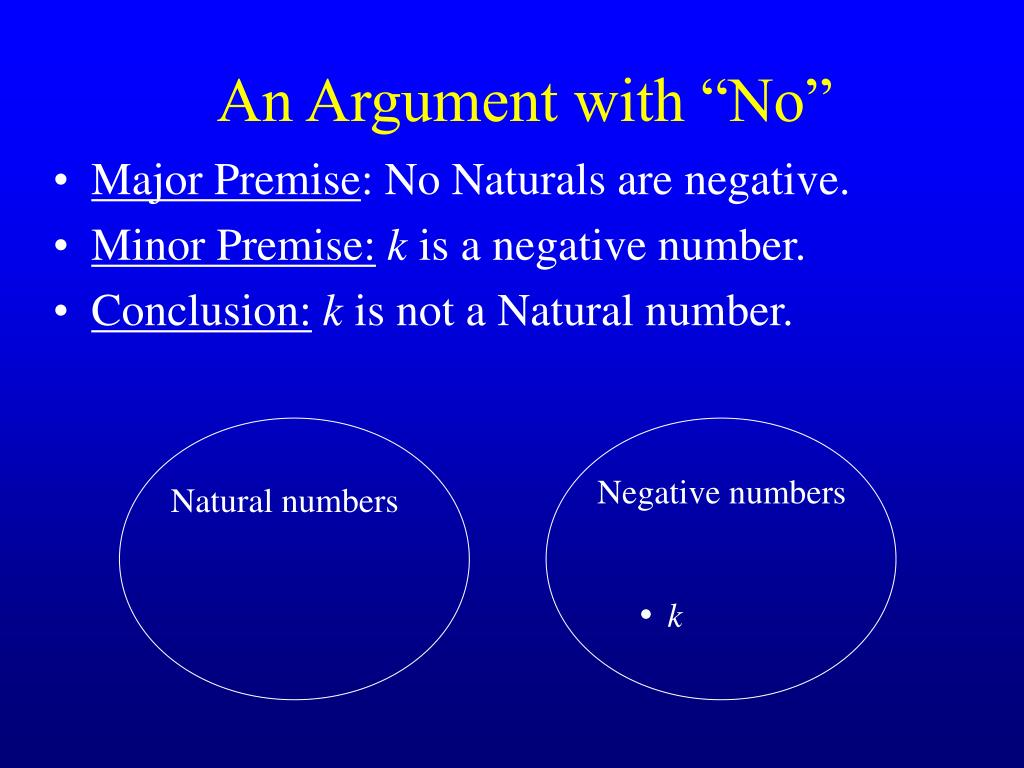 """An Argument with """"No"""""""