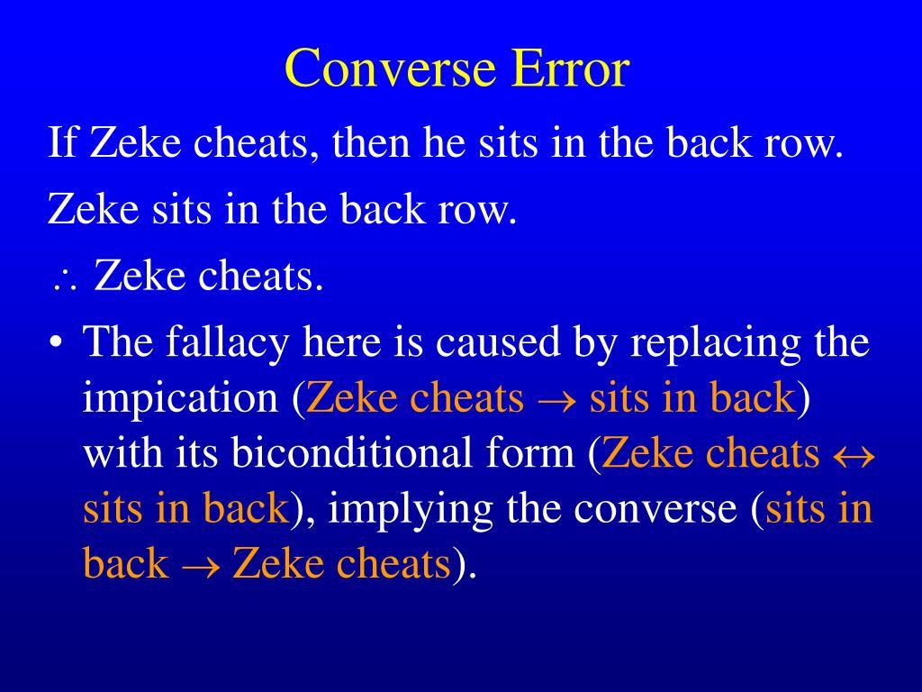 Converse Error