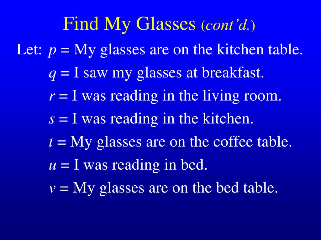 Find My Glasses