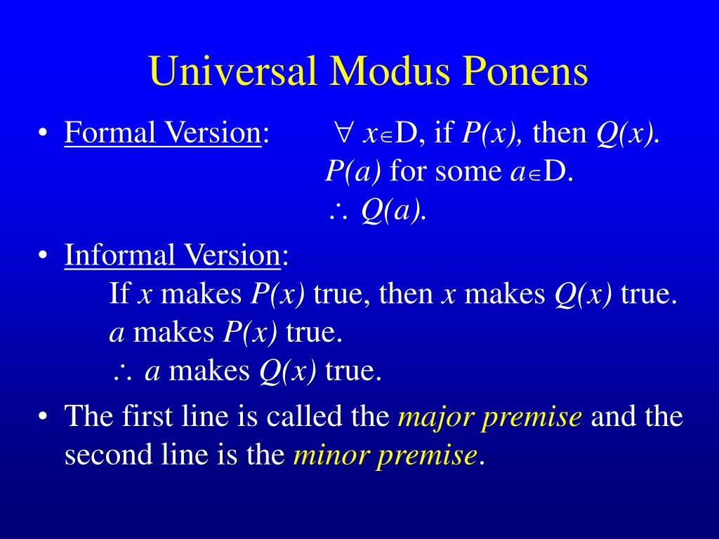Universal Modus Ponens