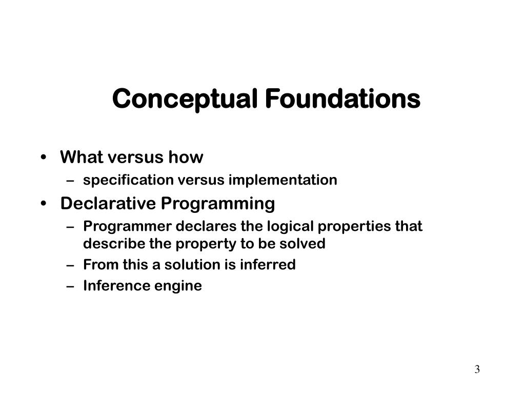 Conceptual Foundations