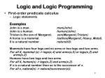 logic and logic programming