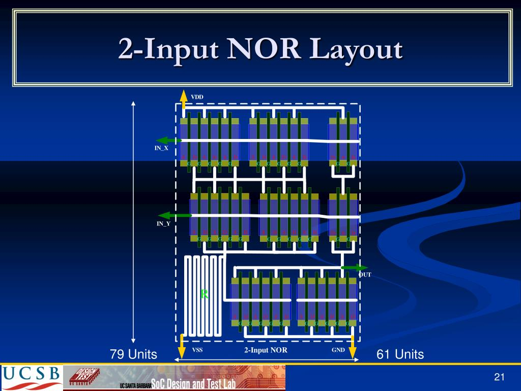 2-Input NOR Layout