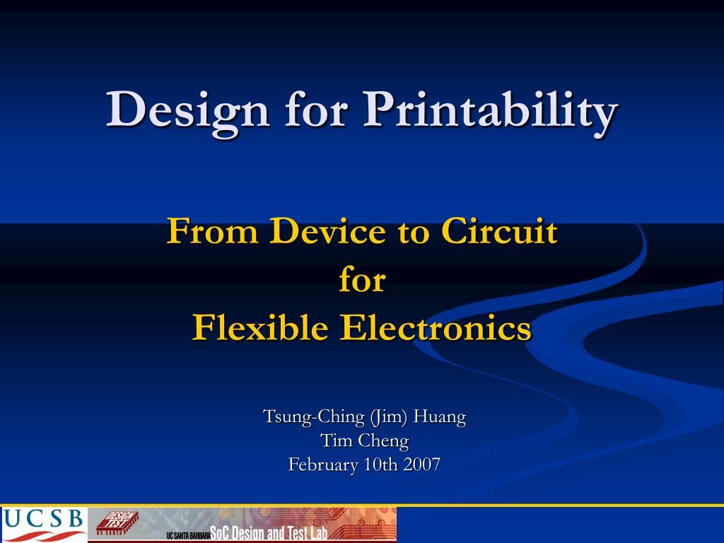 Design for Printability