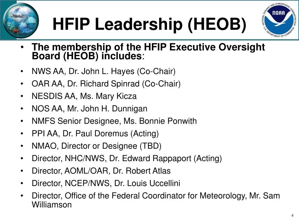 HFIP Leadership (HEOB)