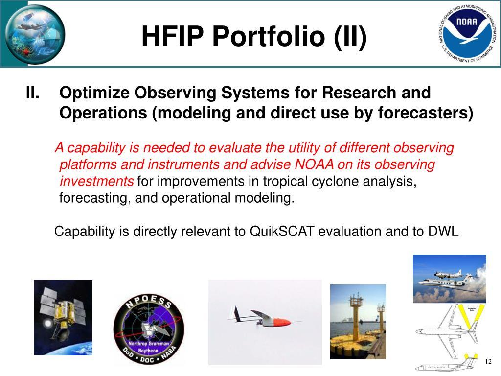 HFIP Portfolio (II)