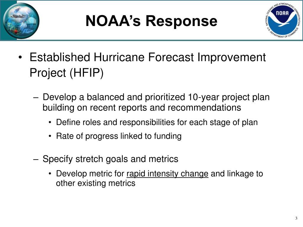NOAA's Response