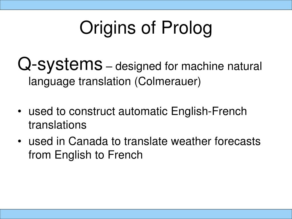 Origins of Prolog