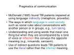 pragmatics of communication