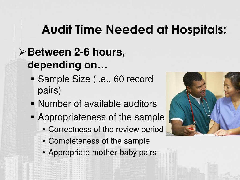 Audit Time Needed at Hospitals: