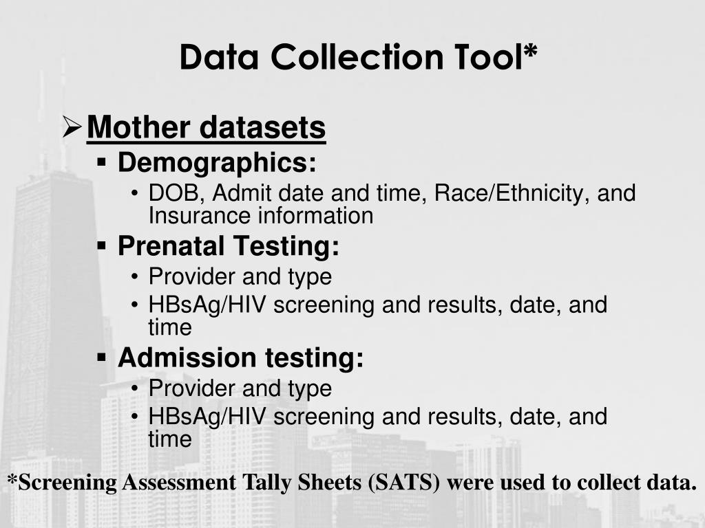 Data Collection Tool*