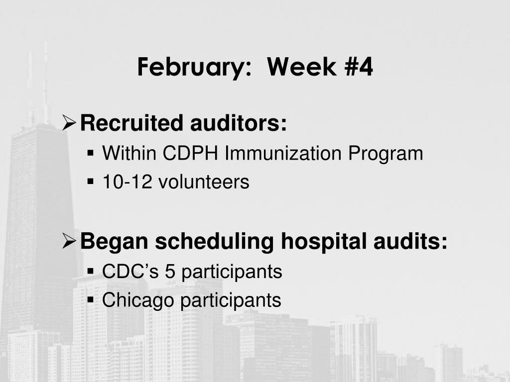 February:  Week #4