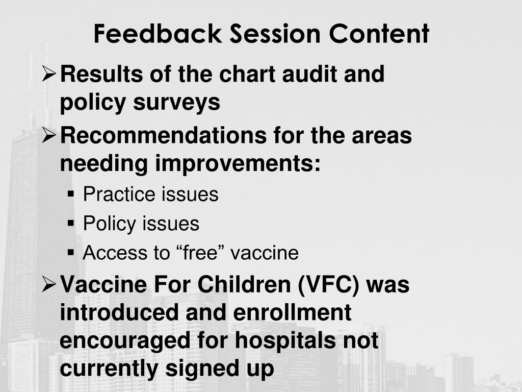 Feedback Session Content