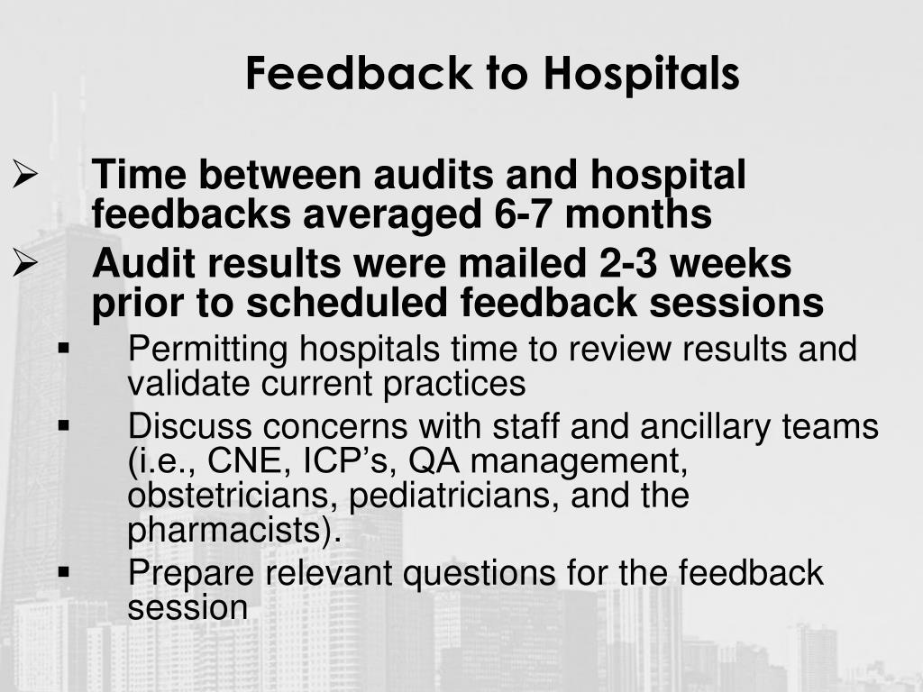 Feedback to Hospitals