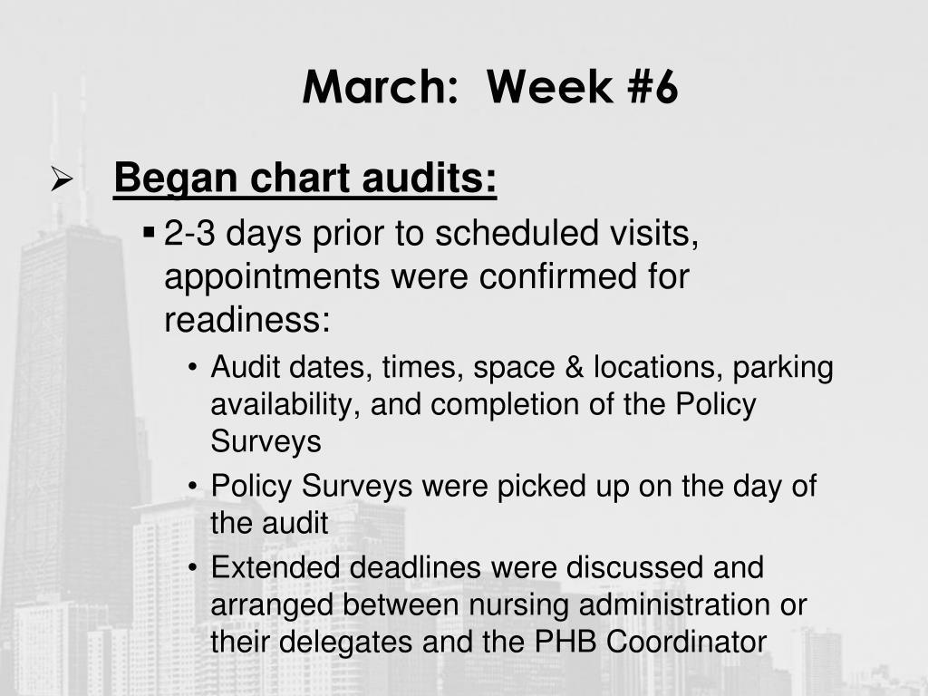 March:  Week #6