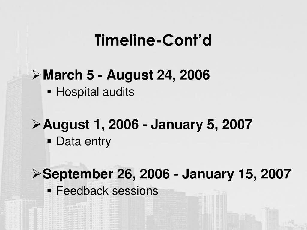 Timeline-Cont'd