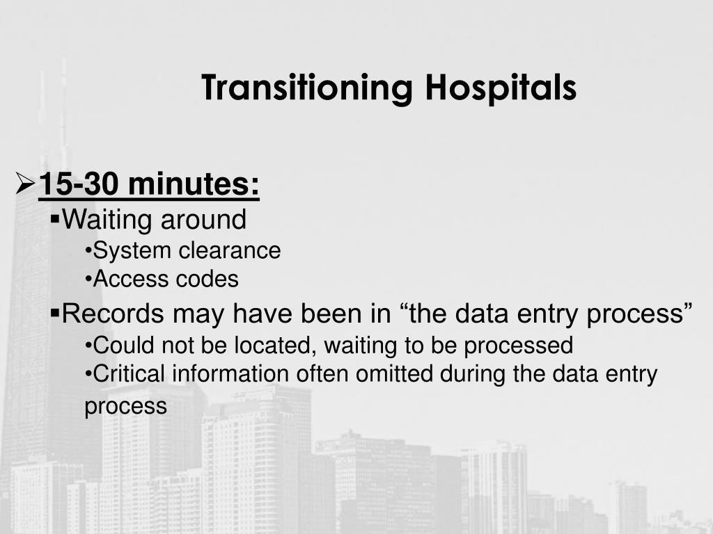 Transitioning Hospitals