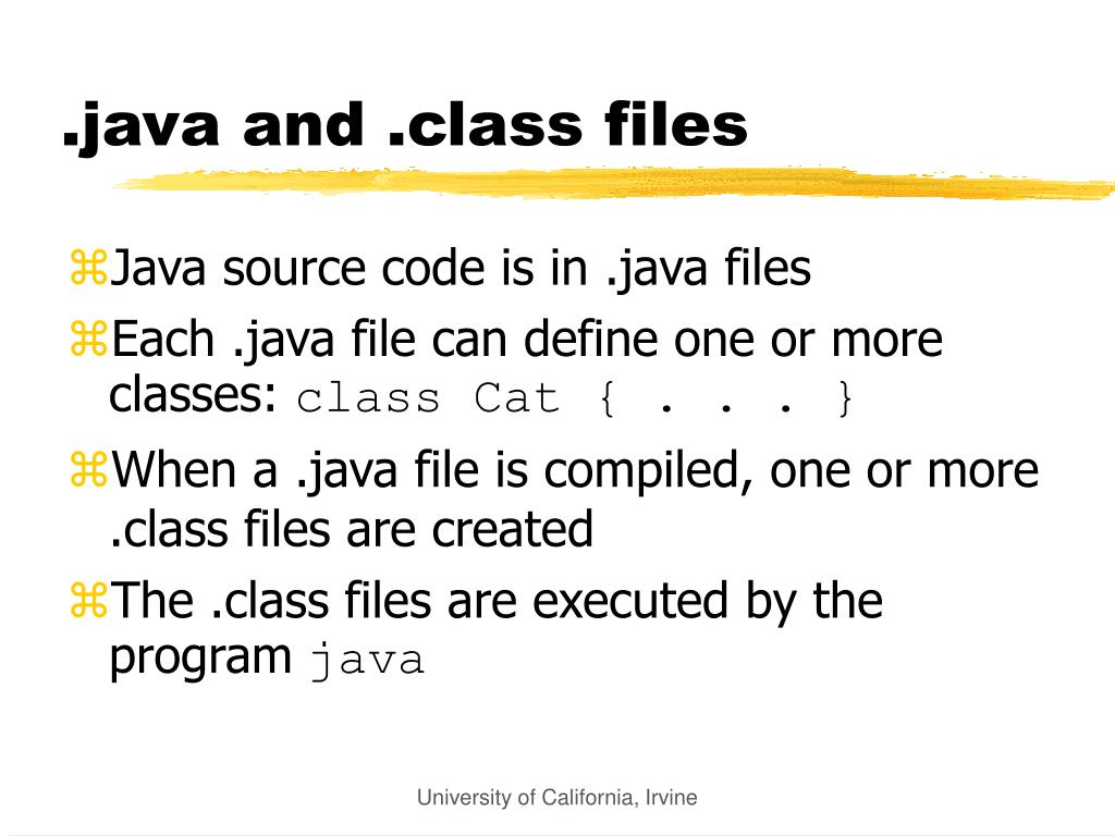 .java and .class files