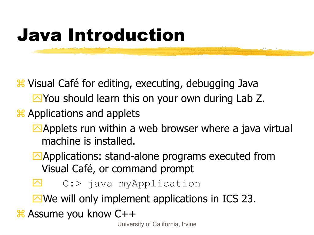 Java Introduction