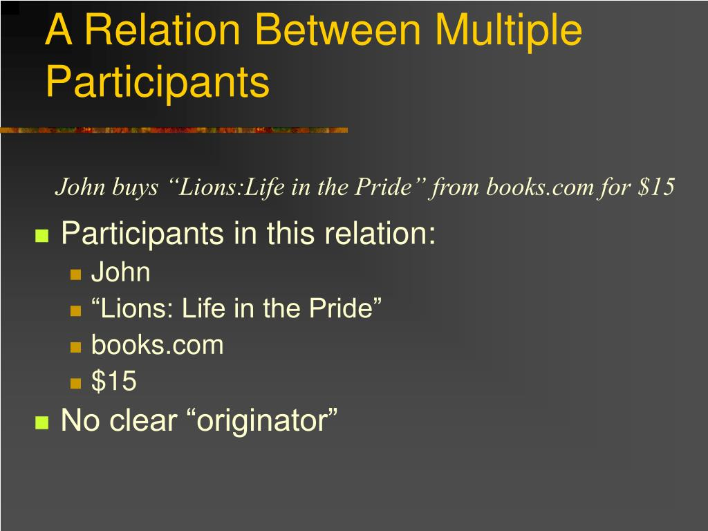 A Relation Between Multiple Participants