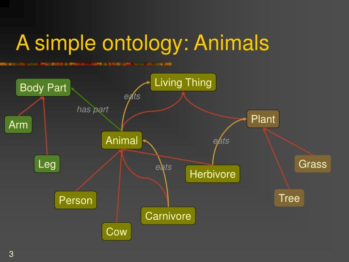 A simple ontology animals