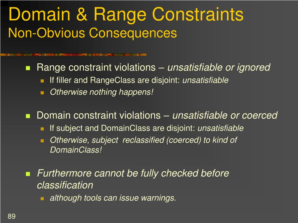 Domain & Range Constraints