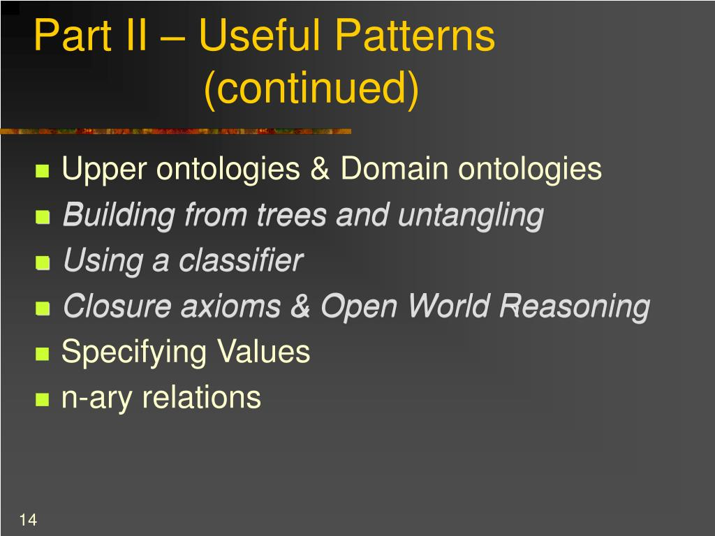Part II – Useful Patterns