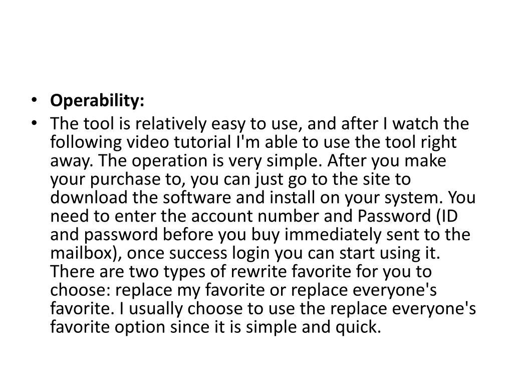 Operability: