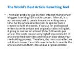 the world s best article rewriting tool