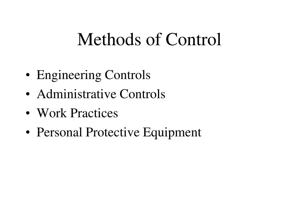 Methods of Control