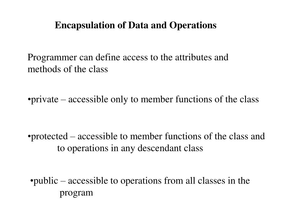 Encapsulation of Data and Operations