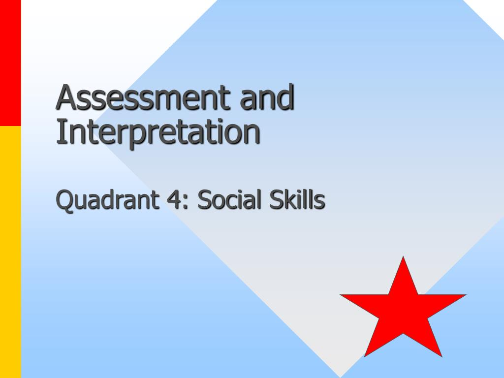 Assessment and Interpretation