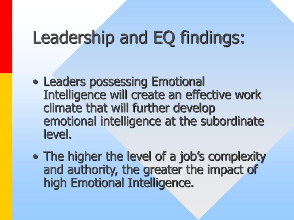 Leadership and EQ findings: