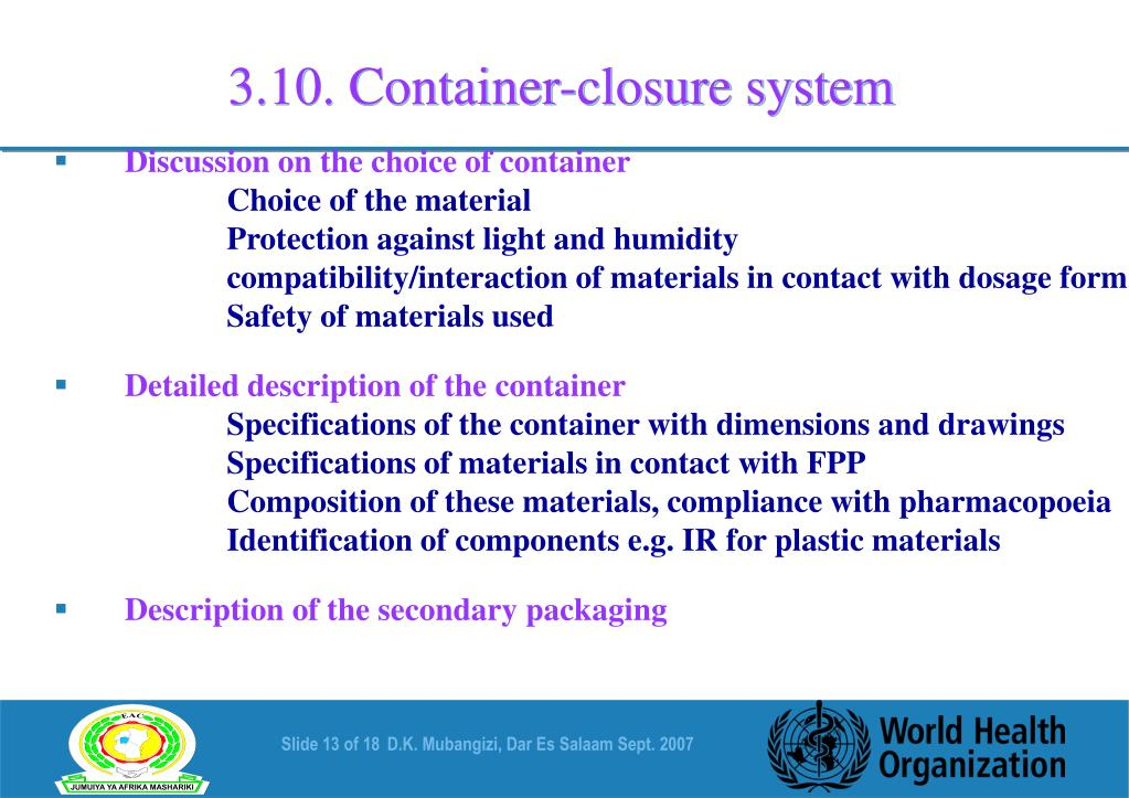 3.10. Container-closure system