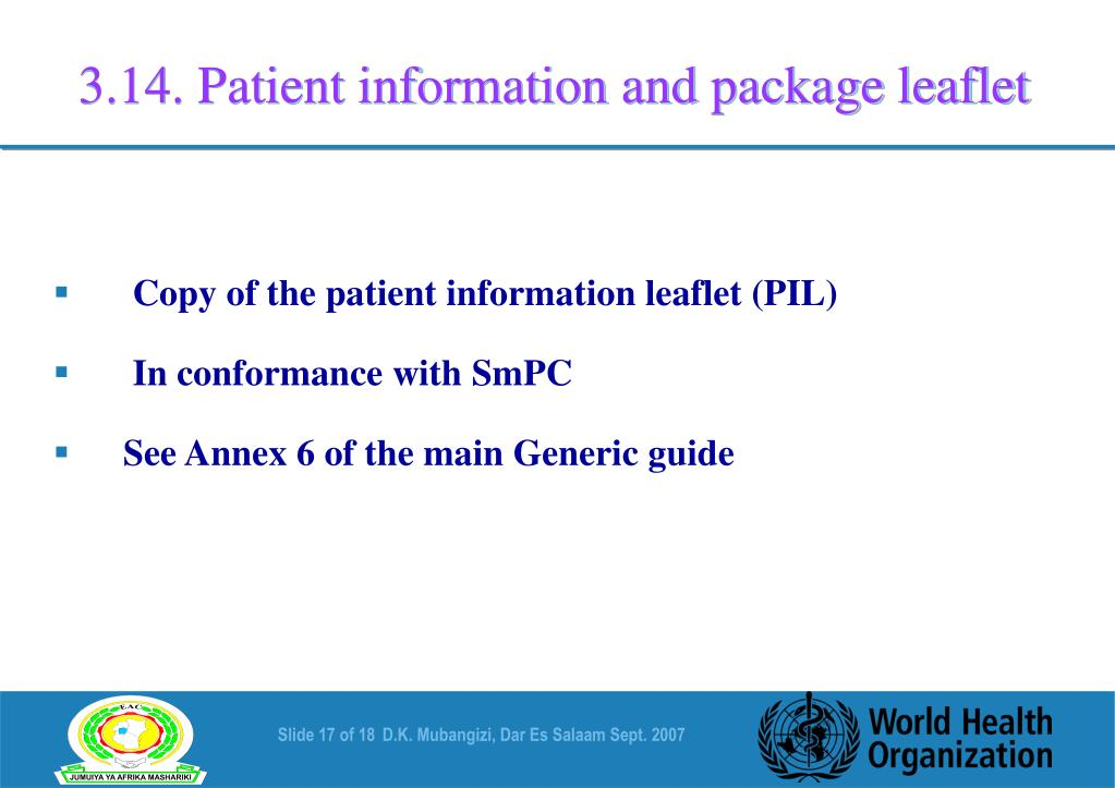 3.14. Patient information and package leaflet