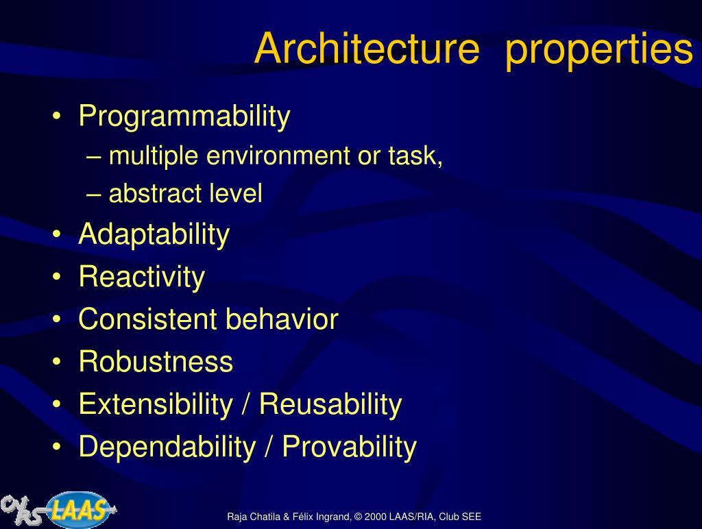 Architecture  properties