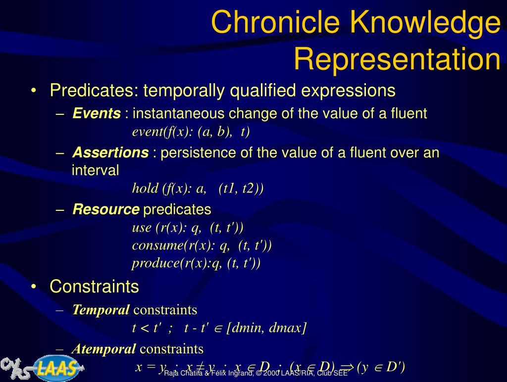 Chronicle Knowledge Representation