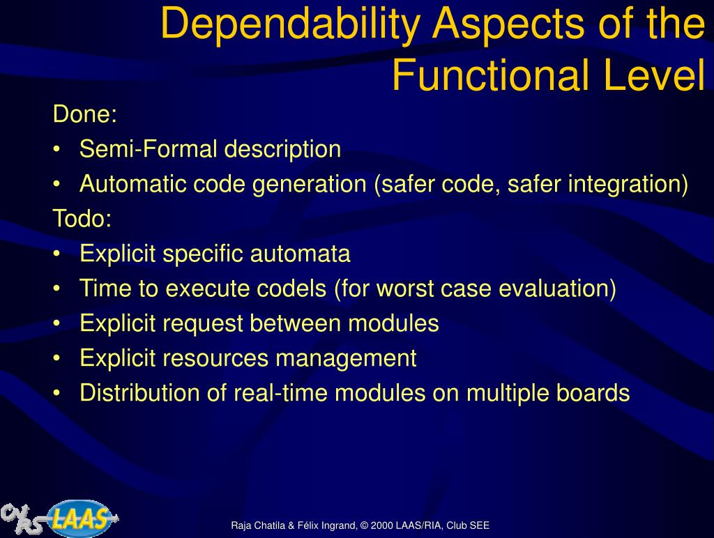 Dependability Aspects of the Functional Level